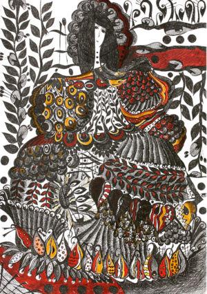 Картина «Собирательница сердец» Ирина ШУМСКАЯ