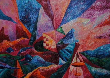 Картина «Любовь квадратиков» Ирина ШУМСКАЯ